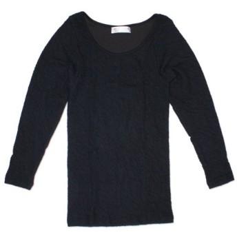 (エアーウェーブTシャツ)AWT (レディース長袖Tシャツ)Lady's Long Sleeve 04.クロ L