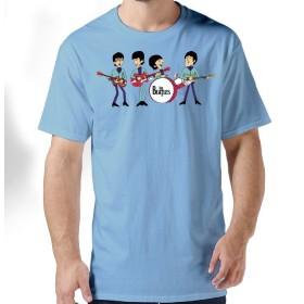 ザ・ビートルズ ロックバンド メンズ Tシャツ 半袖 カットソー シンプル 無地 吸汗速乾 軽い 柔らかい