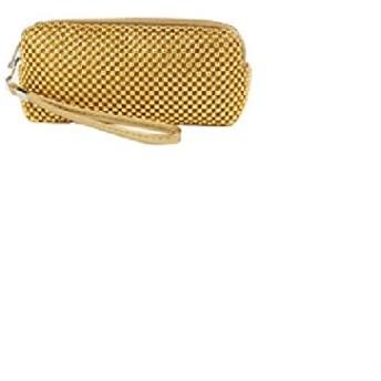(BFI-1157中) バリエーションの化粧ポーチ ダブルファスナー/多機能/ポーチ 小銭入れ/たばこ入れ/小物入れ/スマホケース/カード入れ (ゴールド)
