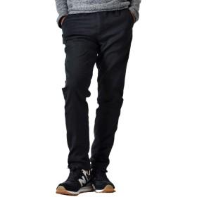 (アローナ)ARONA 裏起毛パンツ メンズ 暖かパンツ イージーパンツ ストレッチチノパンツ チノパン/S 41ブラック L