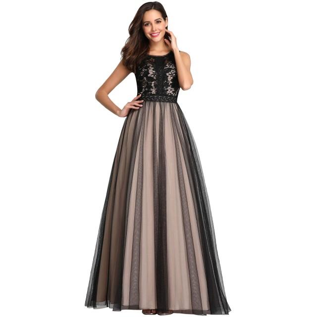 Ever-Pretty レディース ハイウエスト スリムライン パーティードレス フォーマルドレス イブニングドレス 結婚式 ワンピース 二次会 演奏会 ロングドレス