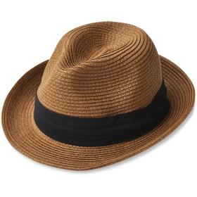 (エッジシティー)EdgeCity 折りたたみ可能 大きいサイズ メンズ 麦わら帽子 ストローハット LL 63cm 000319-0025-63