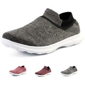 [MLM0] レディース 歩きやすい スリッポン 靴 軽量 通気性 通勤 通学 散歩 ウォーキング カジュアル スニーカー + 衝撃吸収インソール