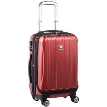 DELSEY デルセー スーツケース 機内持ち込み フロントオープン 拡張可能 helium aero キャリーケース sサイズ 小型 ハードキャリーケース キャリーバッグ 鏡面加工 5年国際保証付 42+5L&レッド