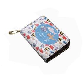 ミニ財布レディースふたつ折り小さい小銭入れカードケースコインケース11ポケット大容量