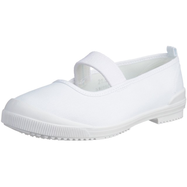 [アキレス] 上履き 日本製 布バレー 14cm~26cm 2E キッズ 男の子 女の子 CHB 6300 白 18.0 cm