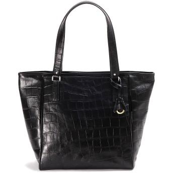 アニアリ トートバッグ 型押しクロコダイル シンプルトート Double Embossed Leather 12-02000 Black