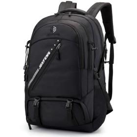 登山バッグ バックパック 超軽量 40l-50l背中通気 長期旅行 防災 通学 収納性抜群 男女兼用 (ブラック)