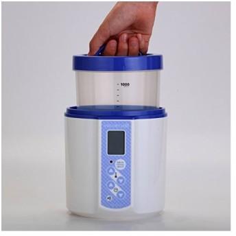 TANICA 温度調節(2570℃) ・タイマー・ブザー付ヨーグルトメーカー ヨーグルティアS 1200ml YS-01 (ブルー)