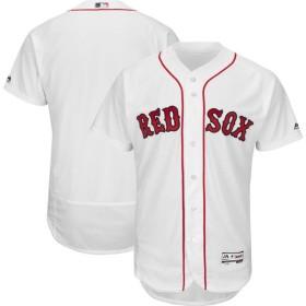 マジェスティック Majestic メンズ トップス Authentic Boston Red Sox Home White Flex Base On-Field Jersey