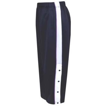 バスケットボール ミニバス 裾ボタン ジャージパンツ 練習用パンツ 男の子 女の子 fo-basket 150cm ネイビー×パープル