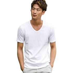 (エーエスエム) A.S.M メンズ Tシャツ 半袖 スパンフライス VネックT 02-66-9038 52(LL) オフ(01)