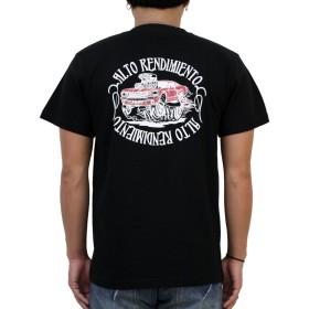 (コンフューズ)CONFUSE tシャツ メンズ 半袖 車 ロゴ バックプリント 大きいサイズ おしゃれ ストリート系 プリント t-シャツ cfst2930 (L, BLACK)