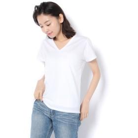GALLARDAGALANTE(ガリャルダガランテ)/シルケットVネックTシャツ