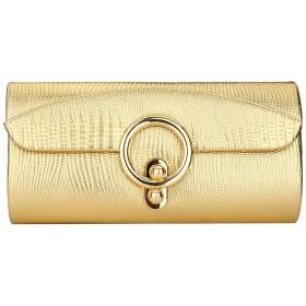 SBOYS(エスボーイズ) 3way パーティーバッグ クラッチバッグ 大きめ ハンドバッグ ショルダー イブニングバッグ 結婚式 高級感 人気 ファッション レディース (ゴールド)