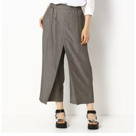 【Gabardine K.T:パンツ】【ドライタッチ】 オーバースカート付き パンツ