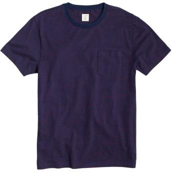 (ジェイクルー)J.Crew 半袖Tシャツ Slim Stripe PocketTee ディープウルトラマリン Deep Ultramarine (XL) [並行輸入品]