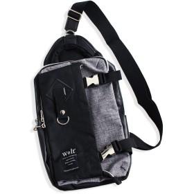 QUINTETTO(クインテット)ちょっと大きめ ビッグサイズ ボディバッグ メンズ ショルダーバッグ BAG 03-270-086y (アッシュグレー(ASH GREY))