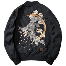 SemiAugust(セミオーガスト) スカジャンメンズ中綿ジャケット刺繍和柄アウターマ-1ミリタリージャンパーサテンスカジャン春服おしゃれL