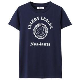 猫ピッチャーTシャツ HF155-WC024 レディース DKブルー:L