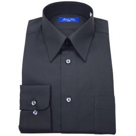 グランドアルシュ(GRANDE ARCHE)形態安定加工・レギュラーカラー・ブラック・長袖・ドレスシャツ-M82
