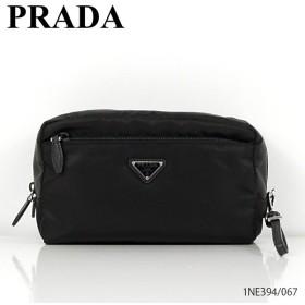 2019 SS『PRADA-プラダ-』ナイロンポーチ メタルロゴ ブラック〔1NE394〕067
