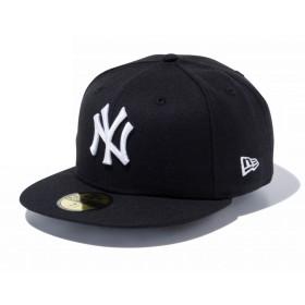 【メーカー取次】 NEW ERA 59FIFTY UNDERVISOR ニューヨーク・ヤンキース ブラック×ホワイト BROOKLYN 11308541 キャップ (ブラック×ホワイト 表記7 1/8)