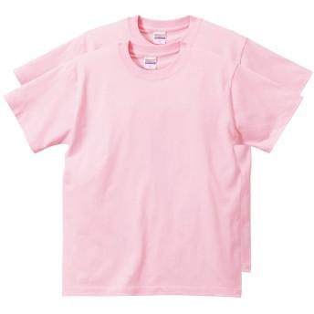 (ユナイテッドアスレ) United Athle 半袖 無地 ベーシック Tシャツ 2枚セット ベビーピンク L