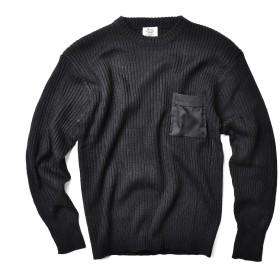 新品 米軍TYPE コマンドセーター ポケット付き(表記42(XL) BLACK)