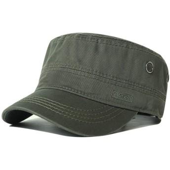 CACUSS ワークキャップ メンズ 綿100% 大きいサイズ 無地 ミリタリーキャップ 帽子 キャップ 緑 グリーン 56cm 57cm 58cm 59cm 60cm