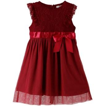 Catherine Cottage 発表会 結婚式 アンティークレース&チュール ドレス ワンピース 女の子 ND0002 110cm シックローズ[RED]