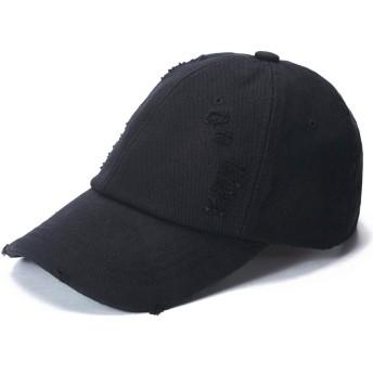 キャップ 帽子 メンズ レディース 野球帽 ワークキャップ メンズ サイズ調節可 コットン100% 通気 無地 夏秋用 56-60cm 日除け 登山 釣り 旅行 ゴルフ テニス 運転 アウトドア 男女兼用 skybow (ブラックA)