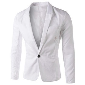 (クチュリオール) COUTURIOR テーラードジャケット 無地 スーツ スリム 白 L
