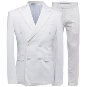 CEEN メンズ スリーピース 一つボタン ベスト付き 上下 3点セット シンプル ジャケット カジュアル スタイリッシュ ビジネス・パーティー・結婚式・披露宴 フォーマル オールシーズン