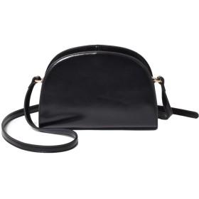 [シュベック] SVEC レディース ハーフムーン ショルダーバッグ 斜めがけ 鞄 カジュアルバッグ 婦人鞄 黒 ブラック