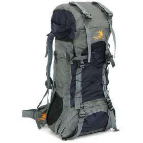 YiyiLai 大容量 旅行バッグ 60L バックパック 防水 リュック アウトドア 登山 男女兼用 ブラック