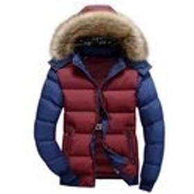 JinNiu メンズ ダウンコート フード付き 毛襟付き 中綿 コート 軽量 大きいサイズ アウトドア 防寒コート 軽量 ダウンジャケット 着やすい 柔らかい タートルネック ダウンジャケット 柔らかい 上品 高品質 防寒コート 冬の暖かいコート B L