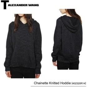 【T by Alexander Wang-ティーバイアレキサンダーワン-】Chainette Knitted Hoddie 402320R14 パーカー・プルオーバー・スウェット