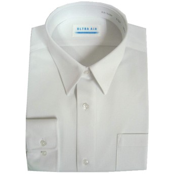 BENCOUGAR (ベンクーガー)学生服通学用カッターシャツ長袖品番UA-106色白サイズ145A~190A素材ポリ95%アセテート5%ニット素材 (185A)