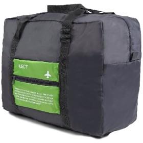 ALECT コンパクト収納 スーツケースの持ち手に通せる 携帯用折りたたみバック グリーン 超軽量 トラベルバック ボストンバック