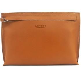 (ロトプ) LOTUFF レザーメンズクラッチバッグ シンプルバッグ デイパックユニセックス LO-1127 男女性用 (Lotuff Simple Leather Clutch Unisex) ブラウン [並行輸入品]
