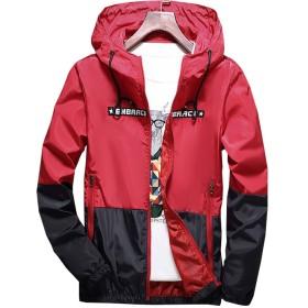 (ドンルルオイン) Dunluluoyin メンズ ジャケット ウインドブレーカー フード付き アウトドア 登山 ジャンパー パーカー 防風 軽量