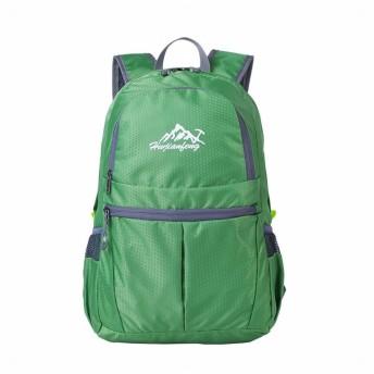 Phoenix Ikki 25L コンパクト 超軽量 210g 折り畳み収納 全10色 ハイキング 登山 スポーツ リュックサック バックパック エコバッグ 収納袋一体型 グリーン