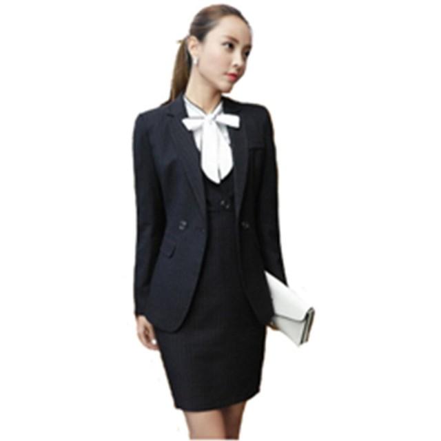 フォーマル スカートスーツ 3点セット ワンピース レディース 女性 スーツ ブラックフォーマル リボン 長袖 オフィス OL きれいめ 卒園式 入学式 入園式 卒業式 S M L XL XXL XXXL (L, ブラック)