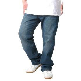 [ヘインズ] 大きいサイズ ジーンズ デニム ロング パンツ ストレート メンズ ブルー 110