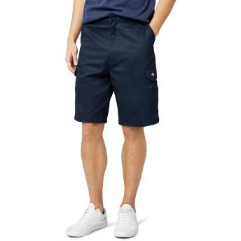 (ディッキーズ) Dickies メンズ レッドホーク カーゴショーツ ショートパンツ ワークウェア 男性用 (ウエスト86cm) (ネイビー)