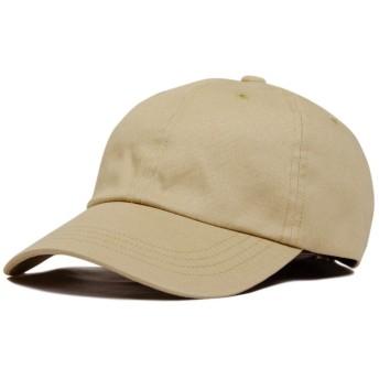(ジロウズ) JIRROUZ シンプル コットン100% SML ベースボール メンズ キャップ 帽子 大きい 親子で被れる カジュアル帽子(ベージュ/L)