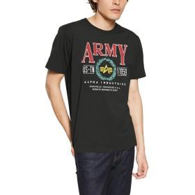 [アルファ インダストリーズ] Tシャツ 【公式】半袖 プリントTシャツ LAUREL メンズ TC1345-10 OFF BLACK 日本 L (日本サイズL相当)