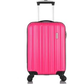 [レジェンドウォーカー] スーツケース ジッパー ハードスーツケース 4輪 快適な走行性能のキャスター 5096-47-ホワイトカーボン 保証付 35L 2.5kg マゼンタピンク