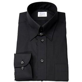 ワイシャツ メンズ長袖(ドレスシャツ)タブカラー ブラック 軽井沢シャツ [A10KZZT21] ゆったり型